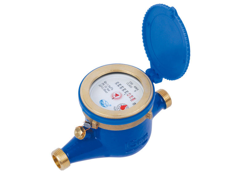 Brass Cold Residential Water Meters 7 Digits SNI Standard LXSG-15E