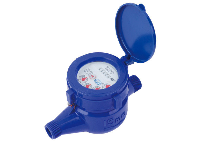 ABS Plastic Domestic Water Meter Magnetic Dry-dial For Cold Water LXSG-15EP