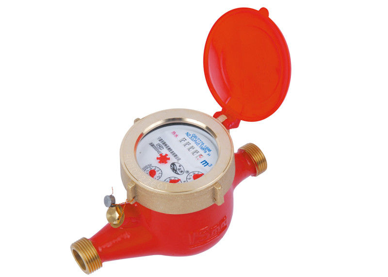 Wet Dial Hot Residential Water Meters Flange Connection With BSP Thread, LXSR-15