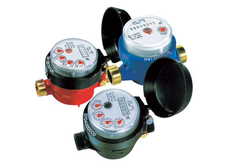 Plastic Dry Dial Domestic Water Meter Single-Jet For Resident LXSC