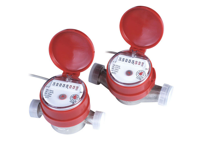 Remote Reading Dry Dial Water Meter Hot Single Jet DN15mm - DN20mm