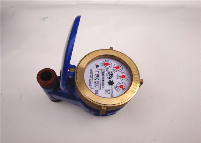 Blue Vane Wheel Water Usage Meter 3/4 Inch for Household / Commercial, LXSL-20E