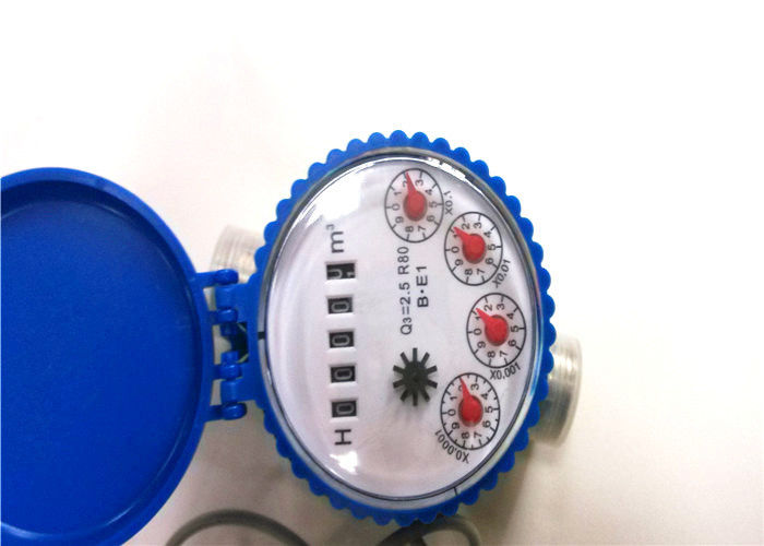 Digital Cold Remote Reading Single Jet Water Meter Dry Dial For Resident