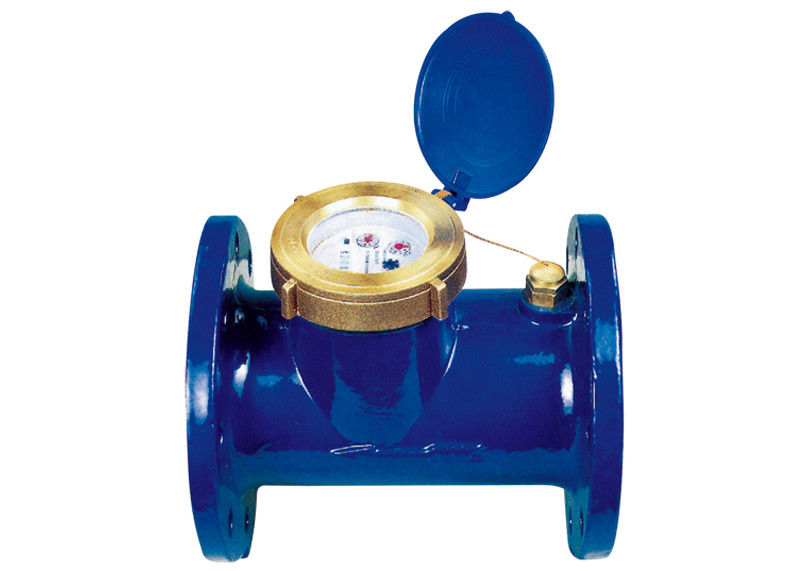 Horizontal Woltmann Mechanical Water Meter For Cold / Hot Water