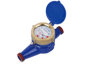 China Cold 2'' Inline Water Meter 5digits With 4 Pointers Brass Couplings factory