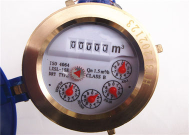China Vane Wheel Dry Dial Vertical Water Meter Clear Reading Multi-jet LXSL-15E distributor