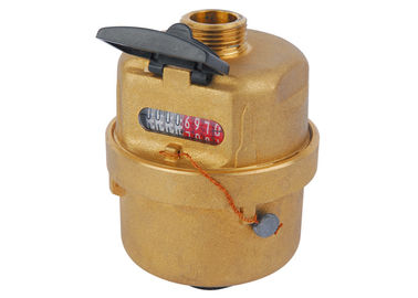 China Brass Rotary Piston Volumetric Cold Water Meter ISO4064 Class C, LXH-15A distributor